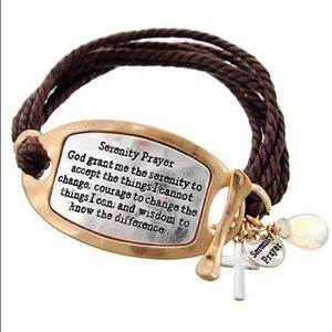 Jewelry - Serenity prayer bracelet